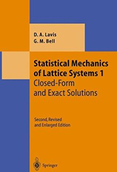 Livres Couvertures de Statistical Mechanics of Lattice Systems: Closed-form and Exact Solutions