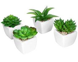 Set-of-4-Modern-White-Ceramic-Mini-Potted-Artificial-Succulent-Plants-Faux-Plant-Home-Decor-MyGift