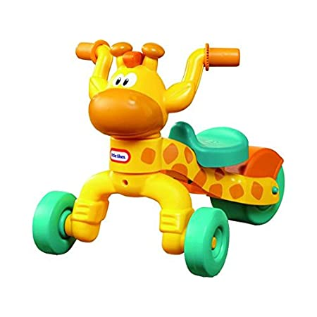 Kids will love this adorable riding toy. The friendly face makes kids happy and the foot-to-floor format makes it easy for children to scoot and ride. An adjustable seat lets children use it longer. This toddler ride-on will help promote gross motor ...
