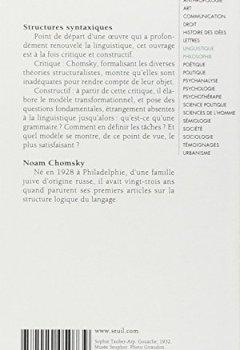 Livres Couvertures de Structures syntaxiques