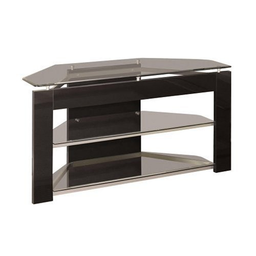 Image of Powell Glossy Silver TV Stand (938-802)