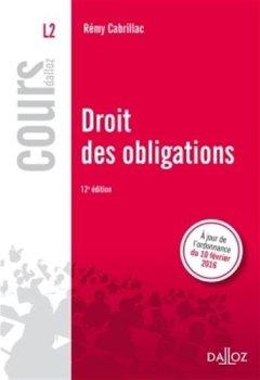 Livres Couvertures de Droit des obligations - 12e éd.