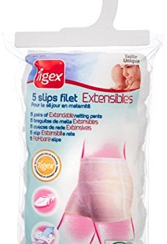 Livres Couvertures de Tigex - 5 Slips Filet Extensibles pour Femmes Blancs - Taille Unique