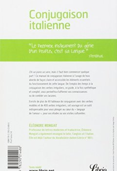 Livres Couvertures de Conjugaison italienne