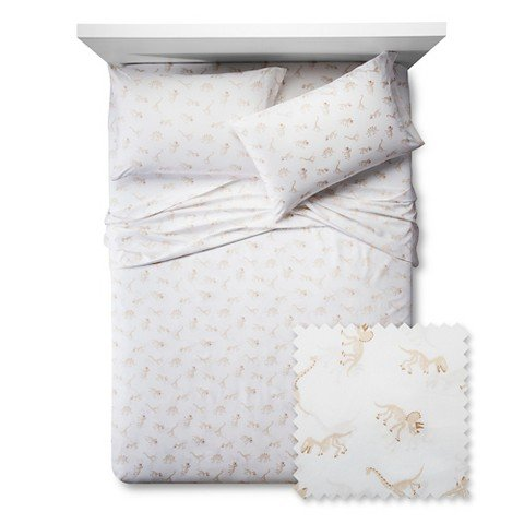 Dinosaur-Bones-Sheet-Set-Pillowfort-Twin