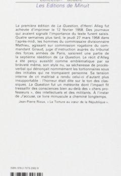 Livres Couvertures de La Question : Suivi de La torture au coeur de la République