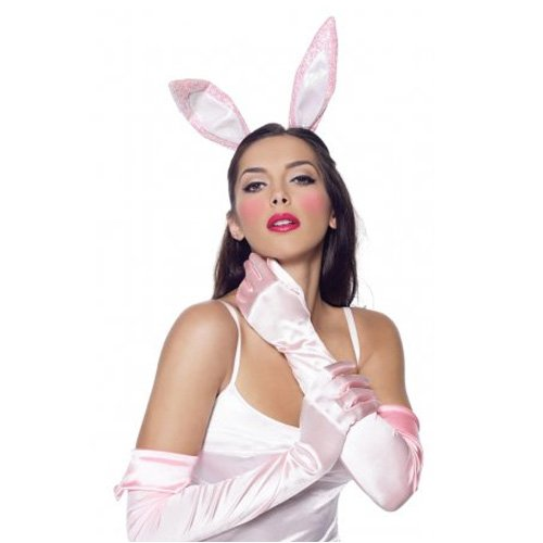 Leg Avenue Bunny Accessory Kit: gloves glitter ears, and tail