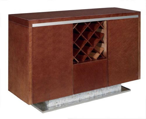 Image of Dark Gloss Walnut Color Deco Style Buffet (VGWCTEM8P028)