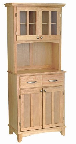 Image of Buffet Hutch with Metal Handles in Natural Finish (VF_HY-5001-0011-12)