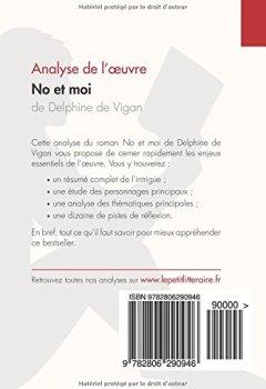 Livres Couvertures de No et moi de Delphine de Vigan (Analyse de l'oeuvre): Comprendre la littérature avec lePetitLittéraire.fr
