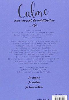 Livres Couvertures de Calme - Mon carnet Méditation