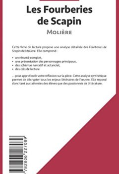 Livres Couvertures de Les Fourberies de Scapin de Molière (Fiche de lecture): Résumé complet et analyse détaillée de l'oeuvre