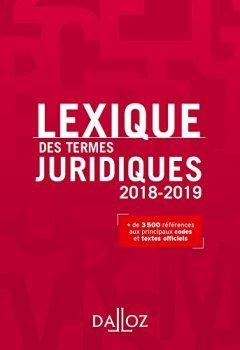 Livres Couvertures de Lexique des termes juridiques 2018-2019 - 26e éd.