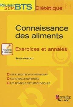 Livres Couvertures de Connaissance des aliments : Exercices et annales