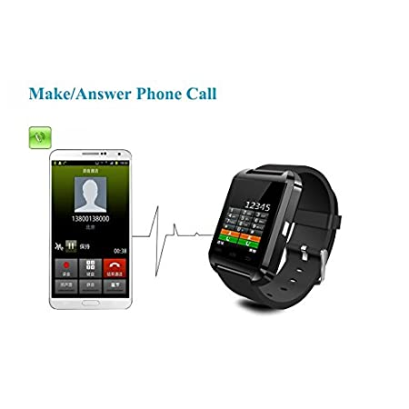 This is a new Bluetooth Smart U Watch which is compatible with all Bluetooth V2.0 orabove enabled smartphones, tablets and PCs (support Android 2.3 or above), such asiPhone 4, 4S, 5, 5S, Sumsung S3, S4, Note 2, Note 3, Note 4 etc.Features 1.4...