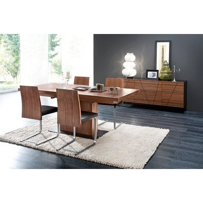 Image of Domitalia VITA-BA/JEFF/SL-C/LIRICA/VERVE/2C-LNB-S Vita Dining Table with Jeff-sl or Lirica Chairs and Verve-2c Sideboard (VITA-BA/JEFF/SL-C/LIRICA/VERVE/2C-LNB-S)