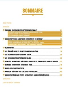 Livres Couvertures de La prépa physique football - 4 TRAINER , Une saison de travail intermittent