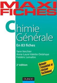 Livres Couvertures de Maxi fiches de Chimie générale - 2e édition - 83 fiches