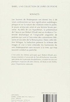 Telecharger Sonnets Edition Bilingue Francais Anglais Pdf