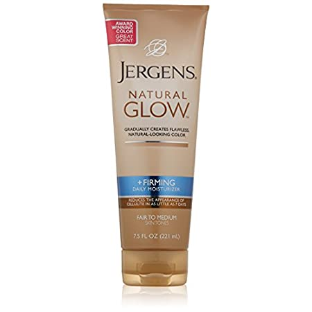 Moisturize into a firming glow.  Jergens natural glow firming daily moisturizer gradually creates fabulous natural looking color with a subtle skin darkening complex and is clinically proven to reduce the appearance of cellulite. The collagen & elast...