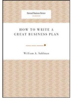 Livres Couvertures de (HOW TO WRITE A GREAT BUSINESS PLAN) BY [SAHLMAN, WILLIAM A](AUTHOR)PAPERBACK