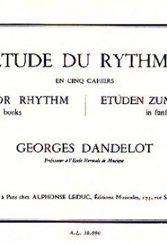 Livres Couvertures de Etude Du Rythme Vol.1 Dandelot