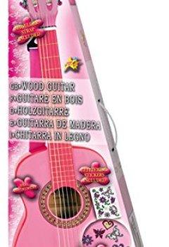 Livres Couvertures de Bontempi Girl - Gsw 7571/s - Guitare En Bois Avec Sangle Et Autocollants - Rose Laqué - 75 Cm