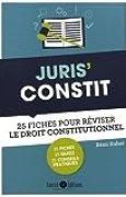 Juris' Constit : 25 fiches pour comprendre et réviser le droit constitutionnel