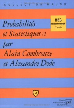 Livres Couvertures de Probabilités et statistiques, tome 1