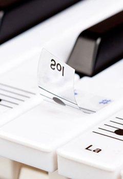 Livres Couvertures de Autocollants Keysies amovibles en plastique transparent pour touches de piano et clavier - avec guide pratique d'installation.