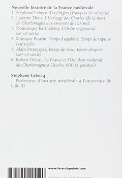 Livres Couvertures de Nouvelle histoire de la France médiévale. Les origines franques Ve - IXe siècle