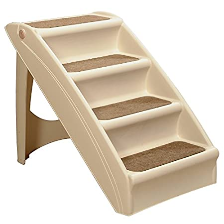 Solvit's PupSTEP + Plus pet stairs are an economical way to help pets reach their favorite places.
