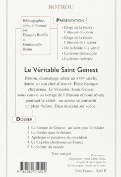 Livres Couvertures de Le véritable Saint Genest