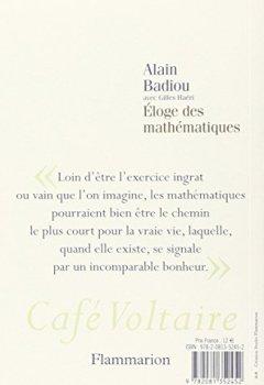 Livres Couvertures de Eloge des mathématiques