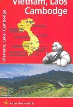 Livres Couvertures de Carte Vietnam Laos Cambodge