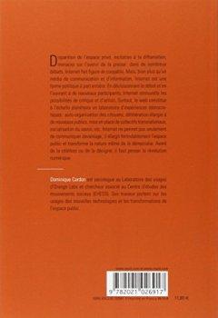 Livres Couvertures de La Démocratie Internet. Promesses et limites