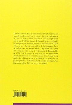 Livres Couvertures de Noblesse et pouvoir princier dans la Lorraine ducale : 1626-1737