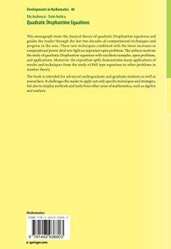 Livres Couvertures de Quadratic Diophantine Equations