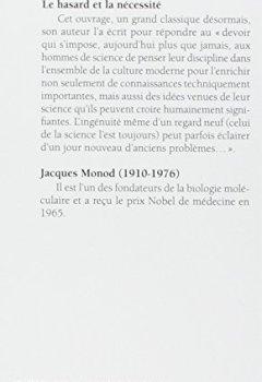 Livres Couvertures de Le Hasard et la Nécessité. Essai sur la philosophie naturelle de la biologie moderne
