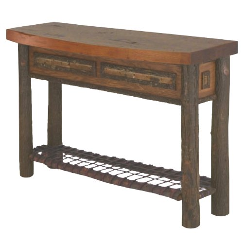 Image of Old Hickory Woodland Bowfront Console Table (B001KD4AFM)