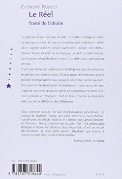 Livres Couvertures de Le réel : Traité de l'idiotie