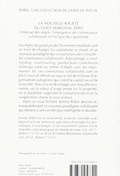 Livres Couvertures de La nouvelle société du coût marginal zéro : L'internet des objets, l'émergence des communaux collaboratifs et l'éclipse du capitalisme