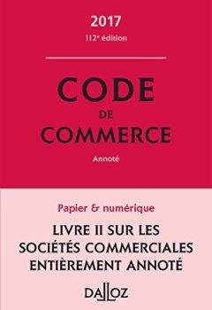 Livres Couvertures de Code de commerce 2017 - 112e éd.
