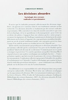 Livres Couvertures de Les Décisions absurdes : Sociologie des erreurs radicales et persistantes