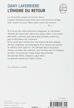 Livres Couvertures de L'énigme du retour - Prix Médicis 2009