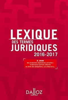 Livres Couvertures de Lexique des termes juridiques 2016-2017 - 24e éd.