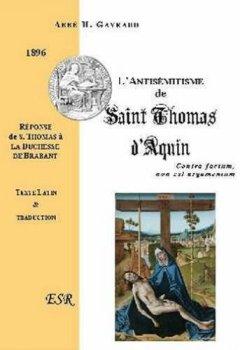 Livres Couvertures de L'antisemitisme De Saint Thomas D'aquin
