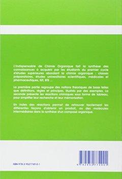 Livres Couvertures de L'indispensable de chimie organique : Résumé de cours