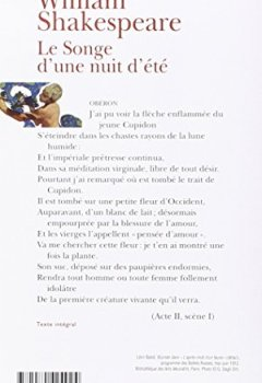 Livres Couvertures de Le Songe d'une nuit d'été (édition bilingue)