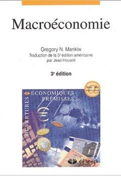 Livres Couvertures de Macroéconomie. : 3ème édition